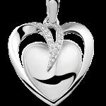 As sieraad hanger hart zilver