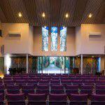 De aula van crematorium Den en Rust in Bilthoven voor een crematie