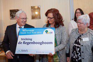 Stichting Regenboogboom winnaar goede doelen actie Rebel Uitvaart