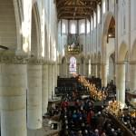 Grote kerk Naarden voor begrafenis in Naarden