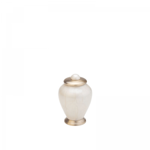 Messing mini urn in ivoor met messing