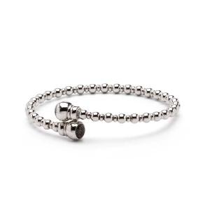 Zilveren armband met bolletjes band
